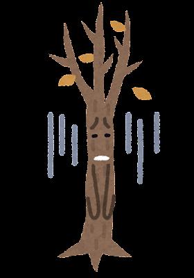 弱った木のキャラクター