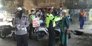 Cegah penyebaran covid-19, Polres Pangkep Himbau Masyarakat untuk Patuhi protokol Kesehatan