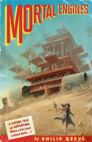 mortal engines book cover with tom and hester
