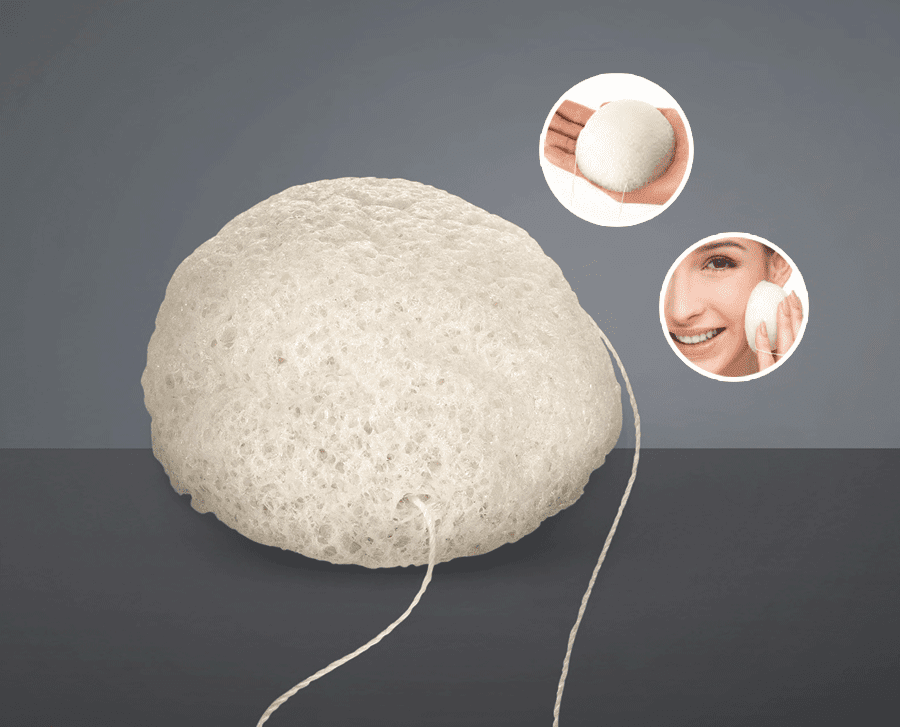 Esponja de Limpeza Facial Konjac