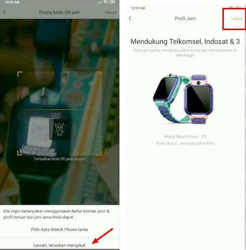 sinkron Imoo ke HP android berhasil