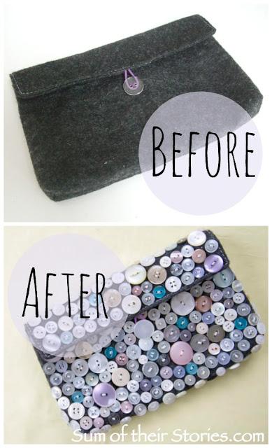 Button Clutch Bag