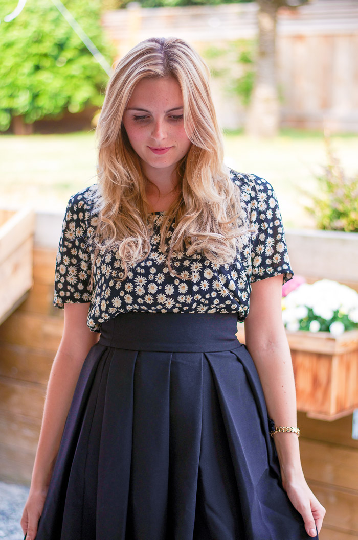 Daisy printed blouse