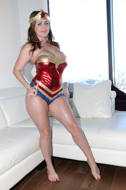 Sophie Dee sexy wonder woman strip tease