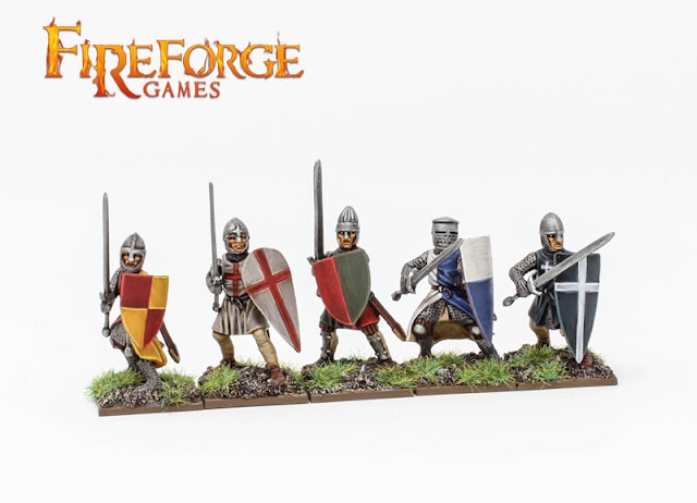 Breaking! Fireforge Games: New Plastic Foot Knights XI-XIIIC. Boxed Set Pre-Order