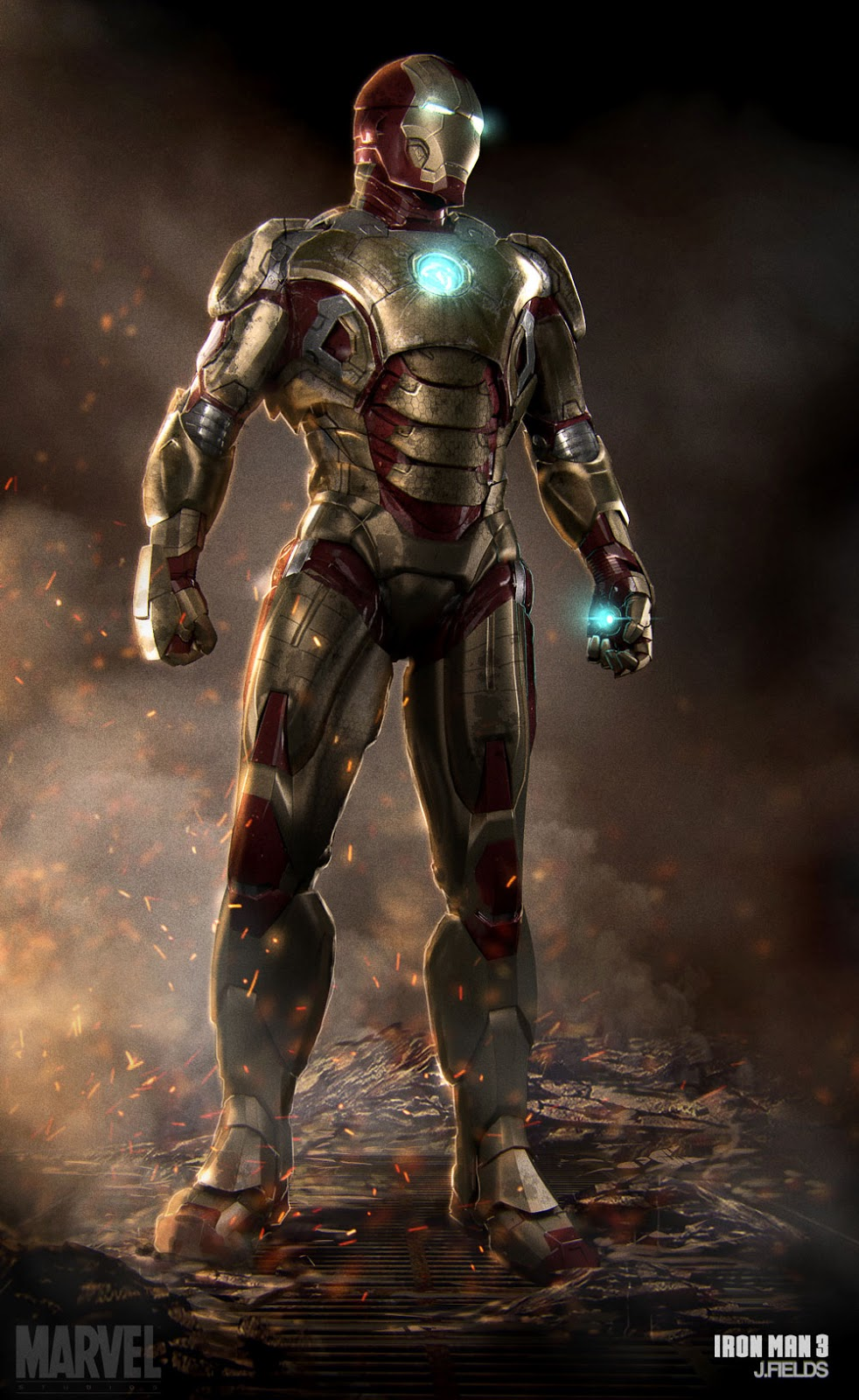 Burning IRON MAN 3 Concept Art by Justin Fields « Film Sketchr
