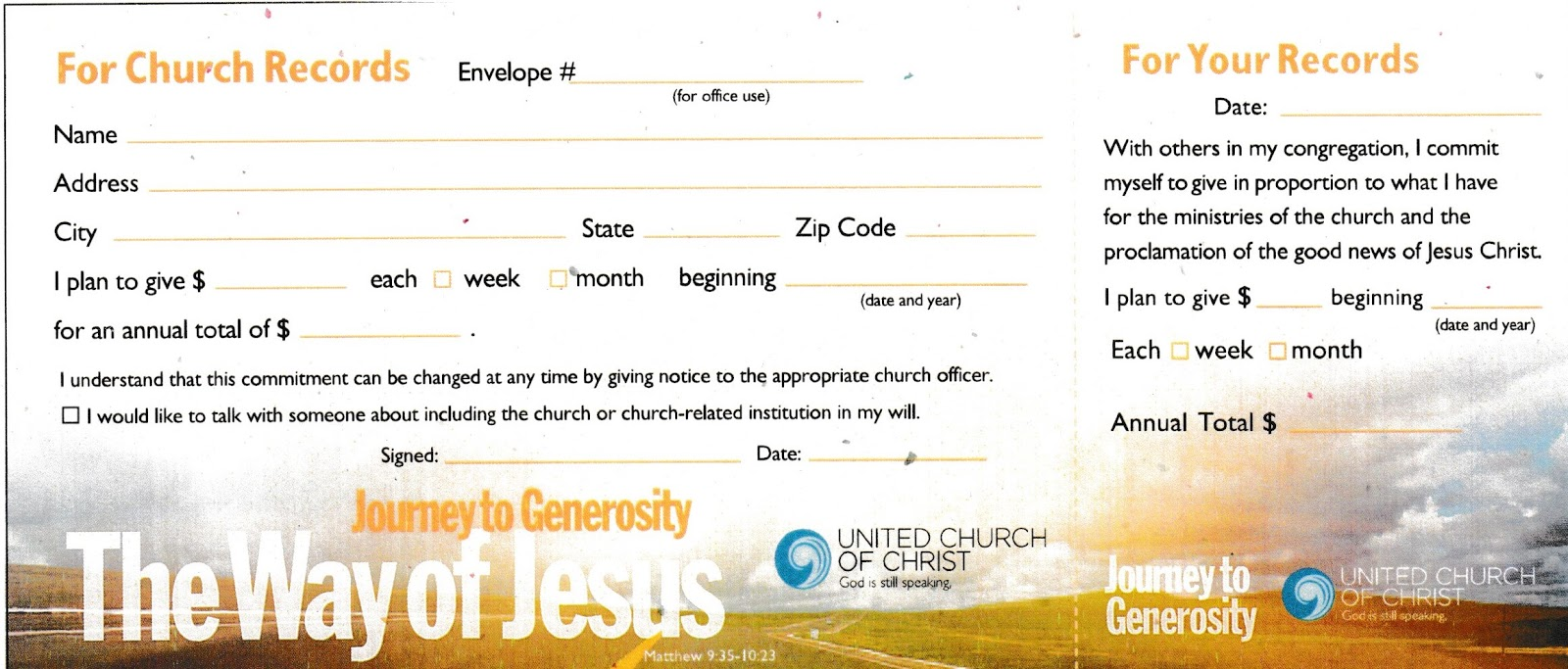 Community UCC: How do I pledge to the work of Community UCC?