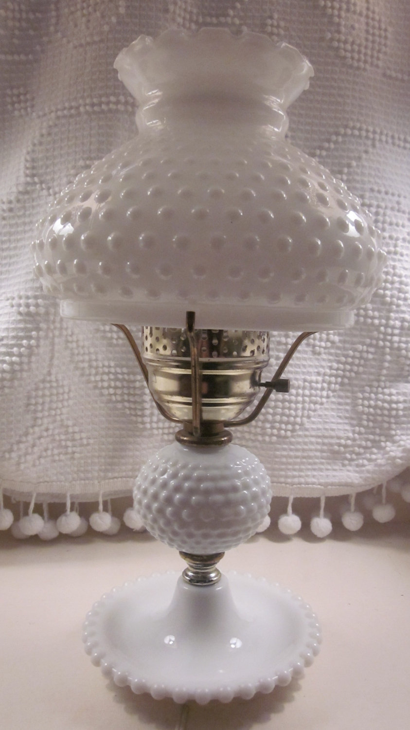 A Quick Online Check Indicated That Hobnail Lamps Are Readily Available At  Reasonable Prices But The Shades Are Extremely Pricey.