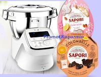 Logo ''Gira la ruota Sapori 1832 - Pasqua Edition 2020'' : come vincere gratis robot Moulinex e kit di prodotti