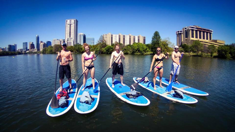 Epic SUP Paddleboarding Austin Texas