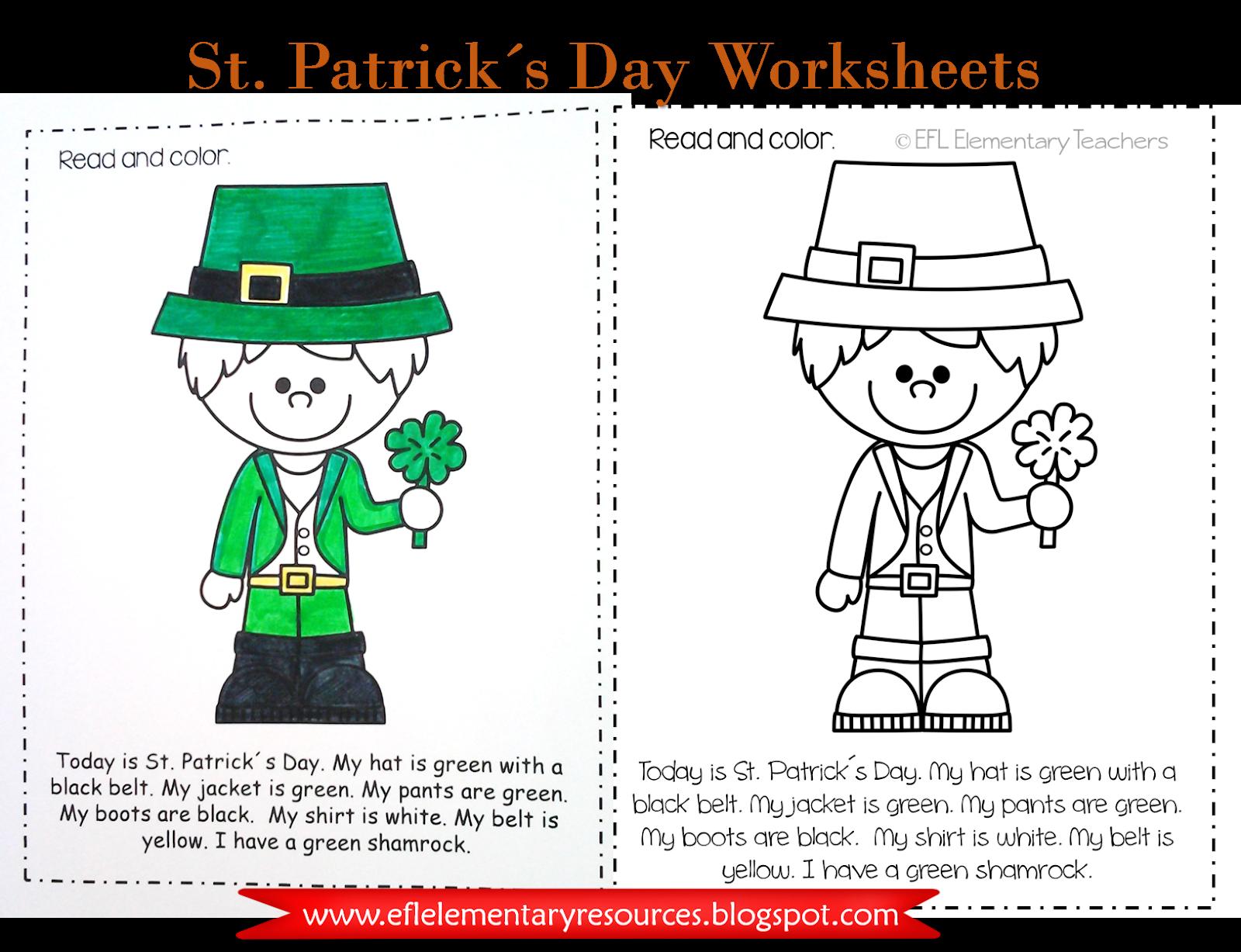 Efl Elementary Teachers St Patrick S Day
