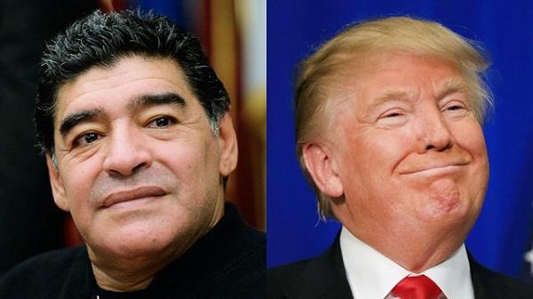 """Diego Maradona a été interdit de visa aux États-Unis pour avoir qualifié Donald Trump """"marionnette"""""""