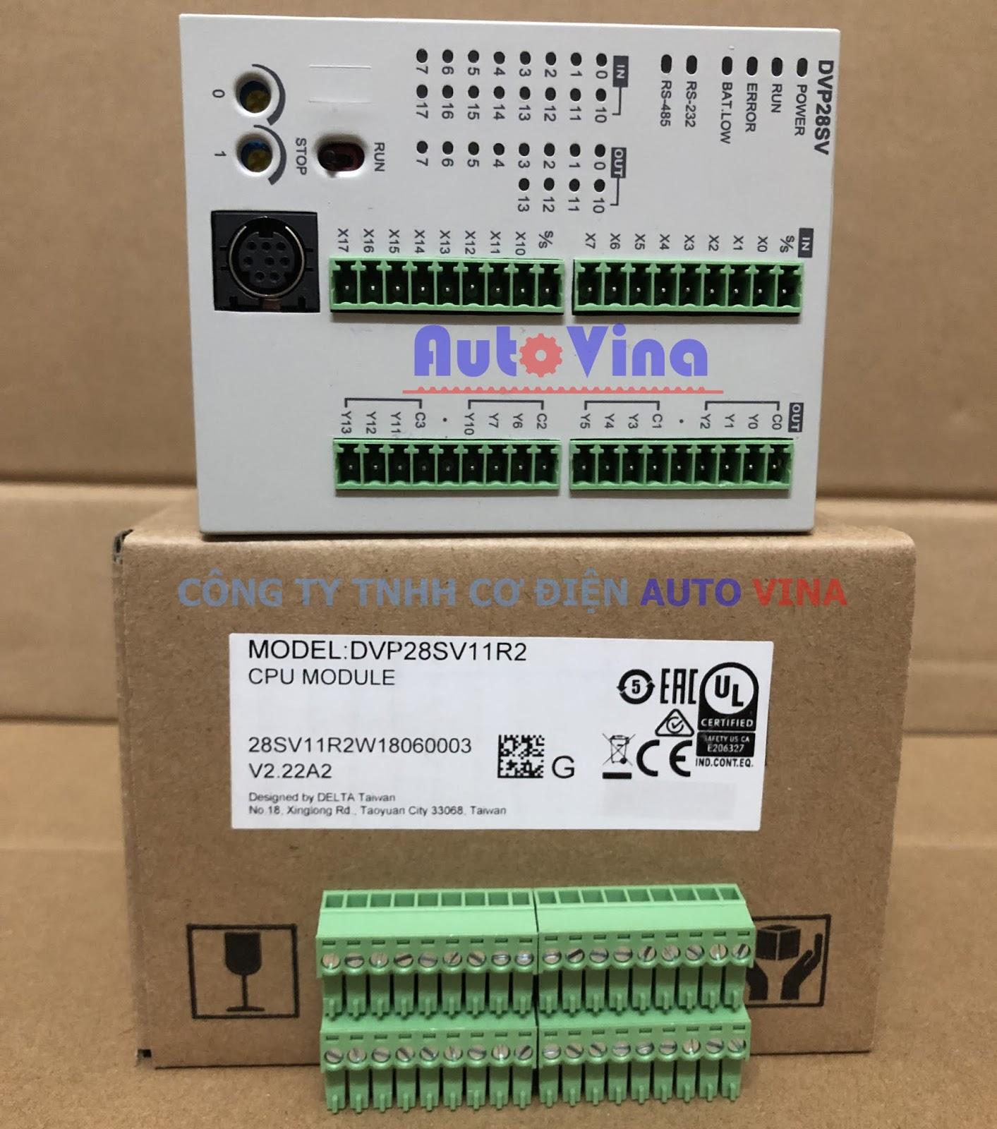 Đại lý bán PLC Delta DVP28SV11R2 hàng có sẵn, giá rẻ nhất