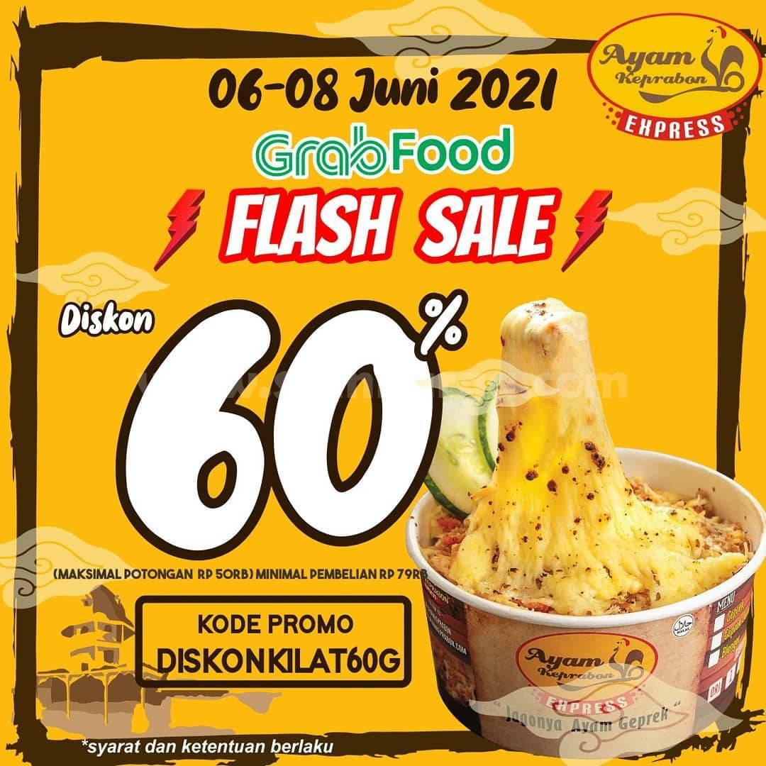 Promo Ayam Keprabon Flash Sale Diskon 60% via GRABFOOD