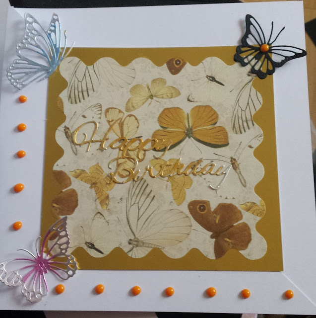 "Butterflies Birthday 8"" birthday card"