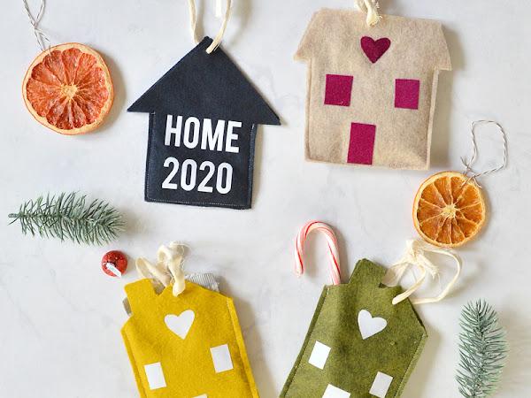 DIY Felt Houses Pattern and Christmas Gift
