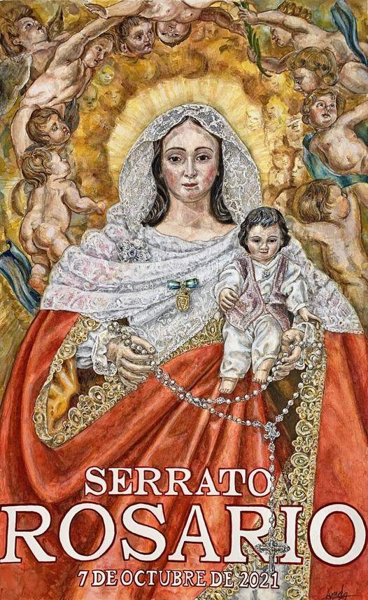 Cartel oficial de la Hermandad Nuestra Señora del Rosario 2021, Patrona de Serrato (Málaga)