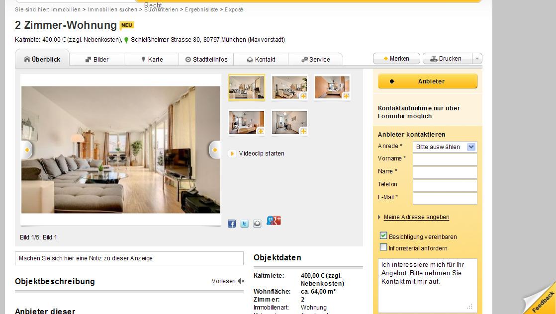 Wohnungsbetrug.blogspot.com: 2 Zimmer-Wohnung Kaltmiete