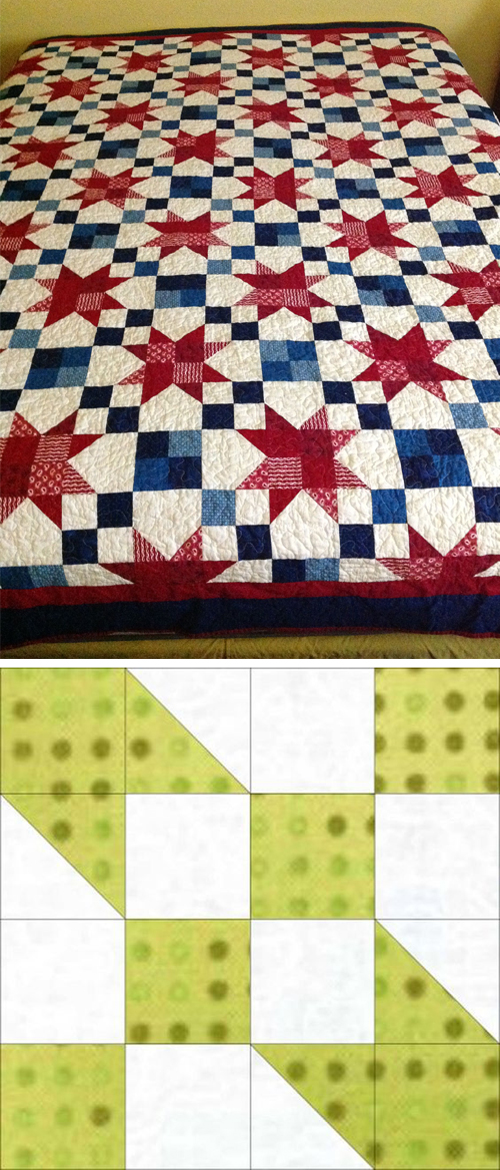 Road to Oklahoma Block Quilt Pattern
