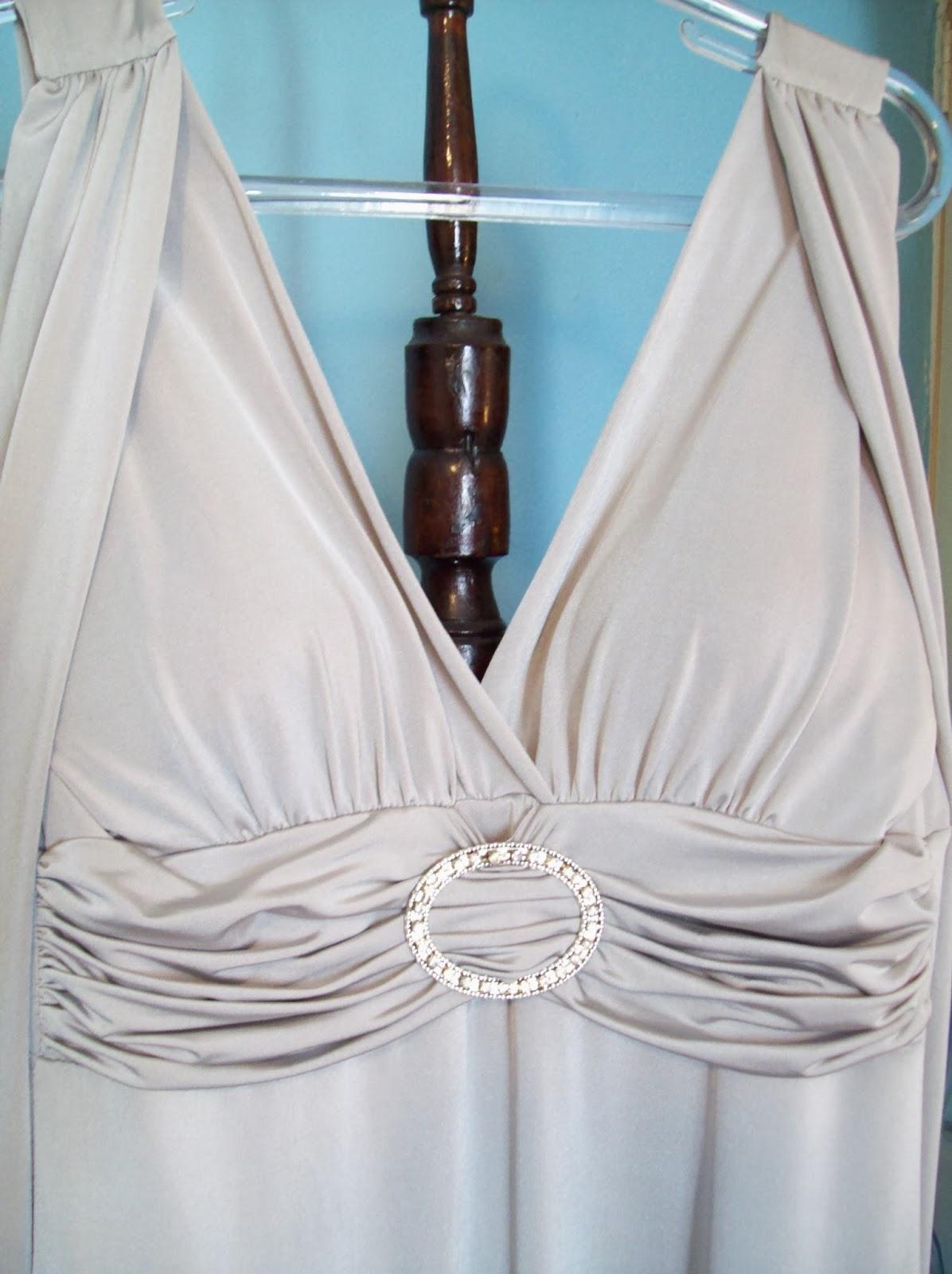 Vestido longo prata tamanho G