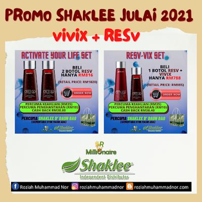 Promosi Shaklee Julai 2021