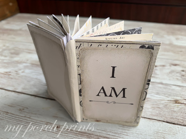 I AM free Mini Book from My Porch Prints: Jesus Bible