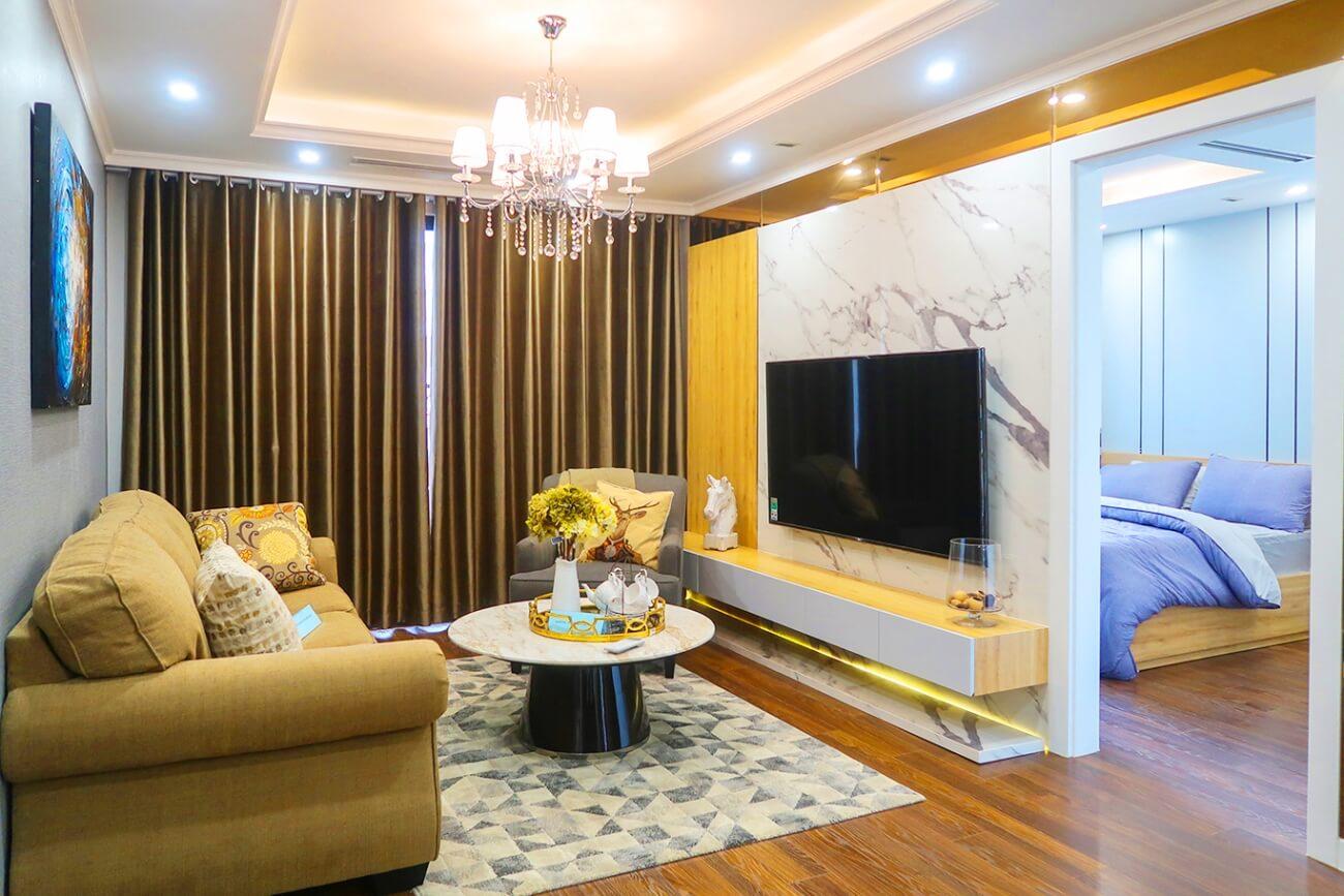 Phòng khách căn hộ cao cấp Sunshine Garden