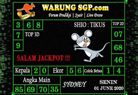 Kode Syair Sydney Senin 01 Juni 2020 - Prediksi WarungSGP