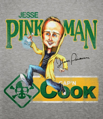 "Jesse Pinkman ""Cap'n Cook"" Breaking Bad Caricature T-Shirt by Gallery 1988"