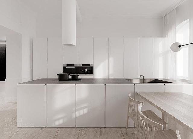 Desain Dapur Mewah Bernuansa Hitam Putih