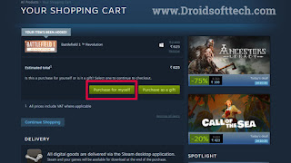 Click on Purchase option
