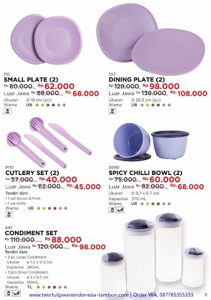 Promo Diskon November 2017, Small Plate, Cutlery Set, Condiment Set, Dining Plate, Spicy Chilli Bowl