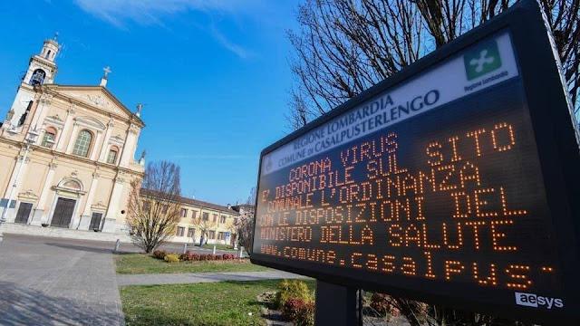 إيطاليا: 11 بلدة تم إغلاقها بعد اكتشاف 79 إصابة بفيروس كورونا.