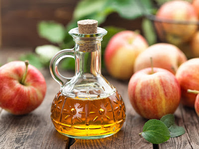 apple cider vinegar will reduce yellowness