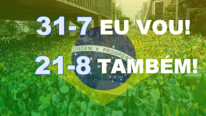 Manifestação adiada para 21 de agosto fora Dilma e fora PT