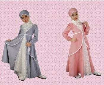 Gambar baju muslim syar'i untuk anak perempuan