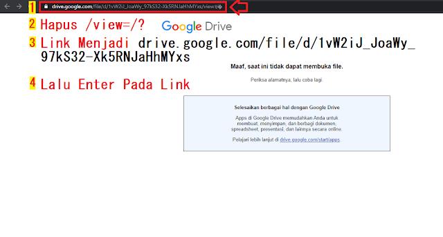 Link Google Drive Error