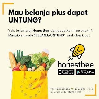 aplikasi belanja groceries Honestbee