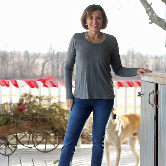 Union St Tee by Hey June in a grey rayon knit from Indiesew