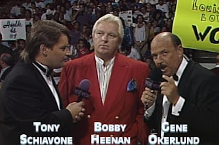 WCW Bash at the Beach 1994 - Tony Schiavone, Bobby Heenan, Gene Okerlund
