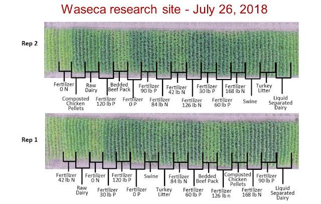 aerial image manure waseca Minnesota