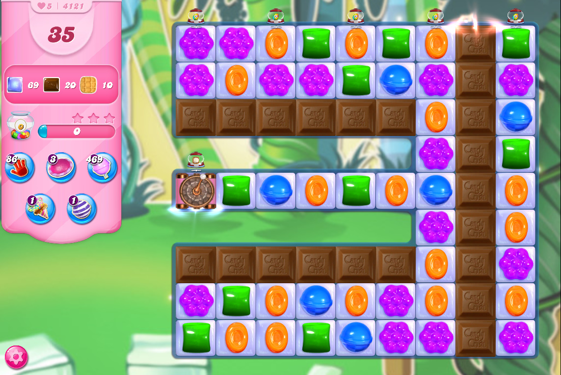 Candy Crush Saga level 4121