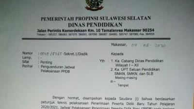 Bermasalah, Jadwal PPDB SMA Sederajat di Sulsel Diundur