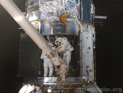 UUİ üzerinde çalışan astronotlar