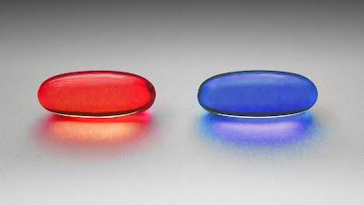 ¿Píldora roja o píldora azul - fotografía de W. Carter CC BY-SA 4.0