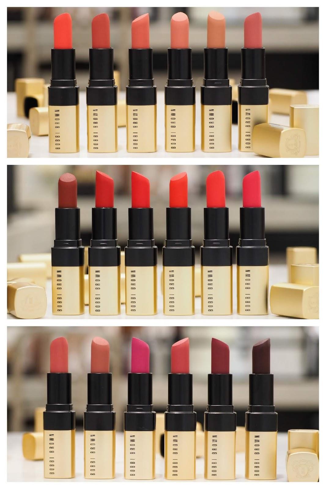 Bobbi Brown Luxe Matte Lip Colour Lipsticks + ALL SWATCHES
