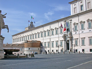 The Palazzo Quirinale in Rome is the official residence of the President of the Republic