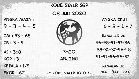 Kode Syair SGP Singapura Rabu