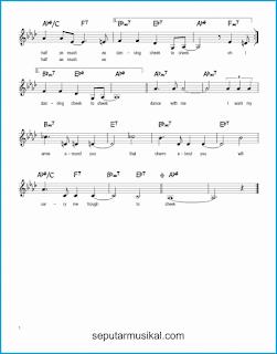 chord cheek to cheek 2 lagu jazz standar