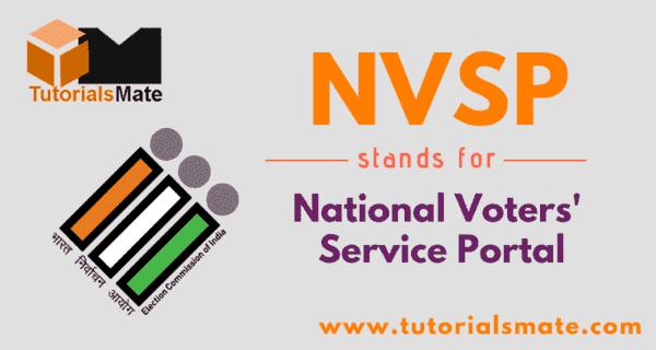 NVSP Full Form